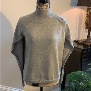 Chico's gray/taupe cape pullover sweater
